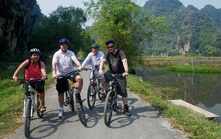Typical Ninh Binh biking routes for your Ninh Binh attraction exploration