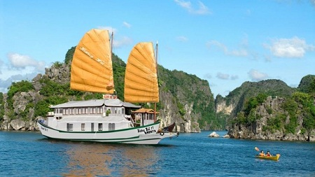 Halong Bay on Huong Hai Junk 2 days