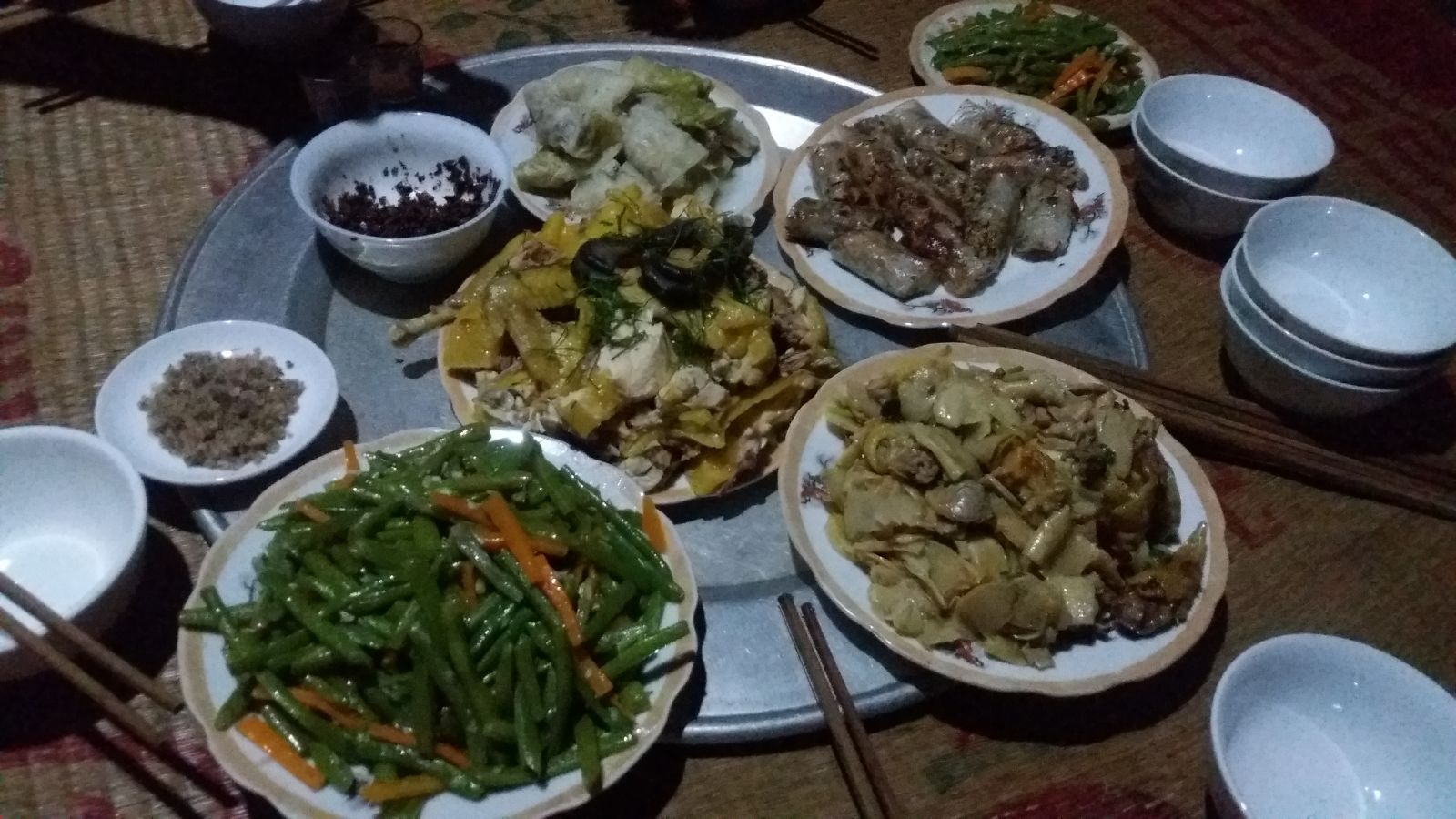 Pu Luong - Dinner at homestay