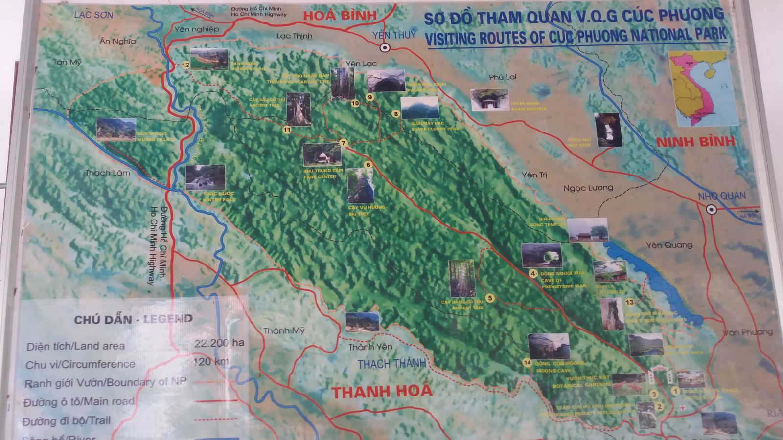 Cuc Phuong National Park-map