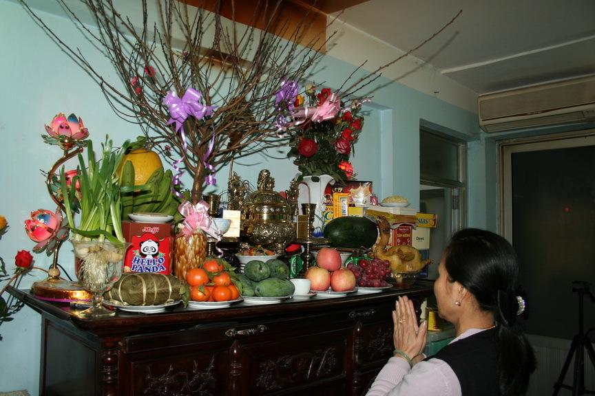 The altar for the ancestor worship