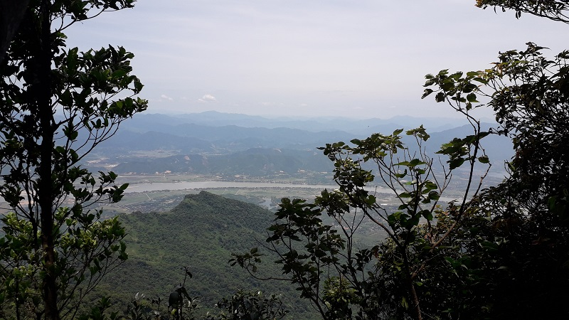 The view of Da river from Ba Vi mountains