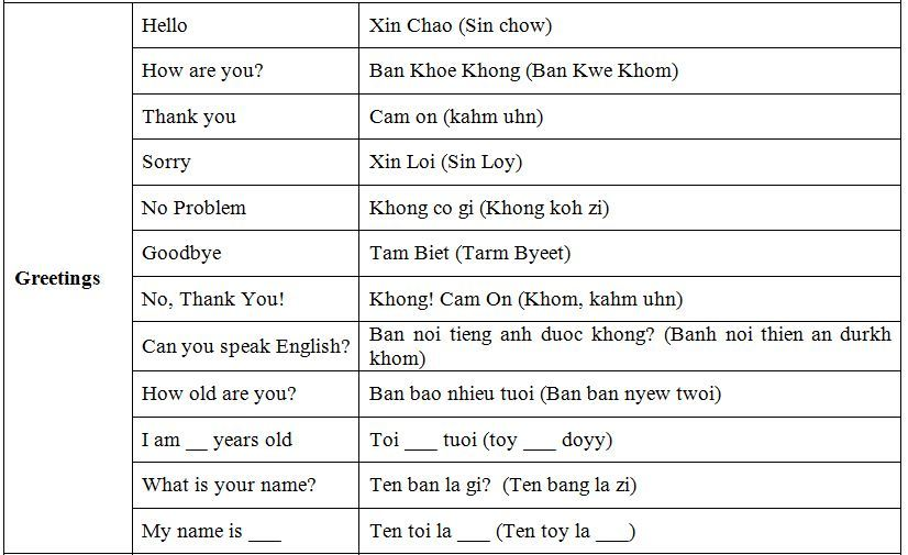 learn some Vietnamese