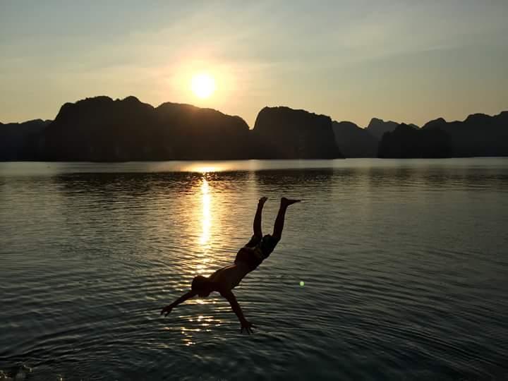 Swimming in Cat Ba island