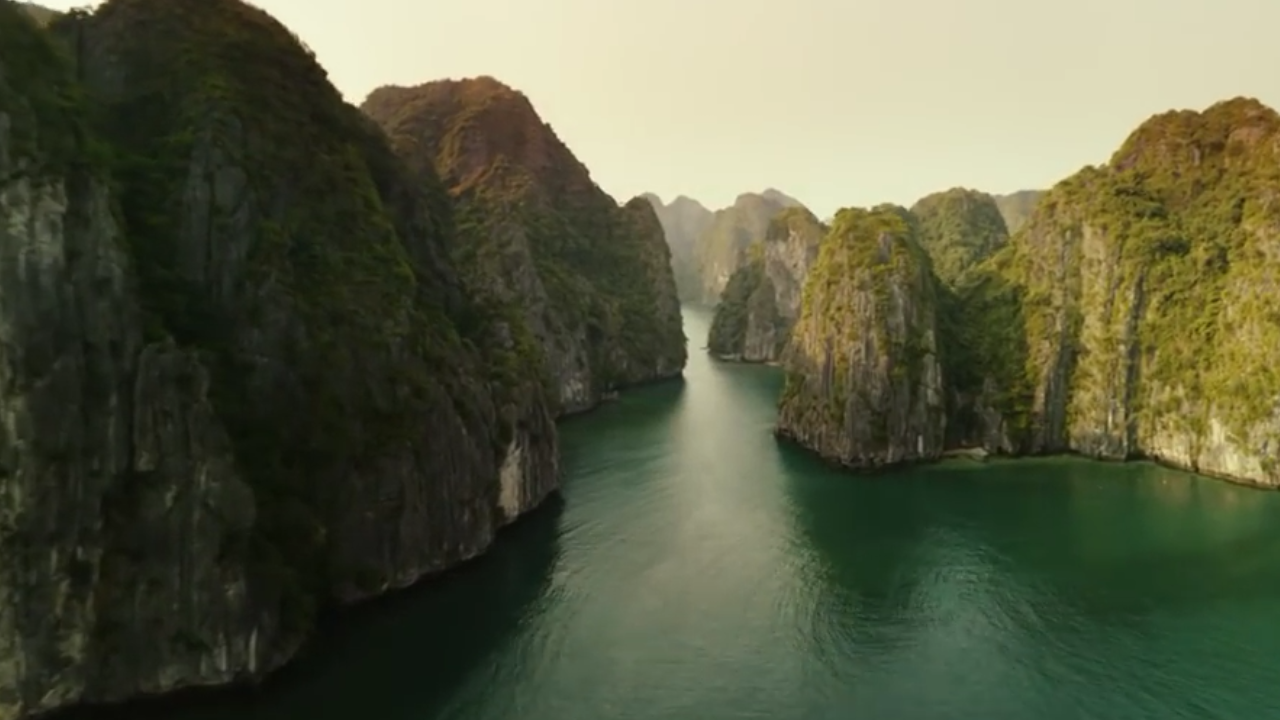 Halong Bay View from Kong Skull island movie