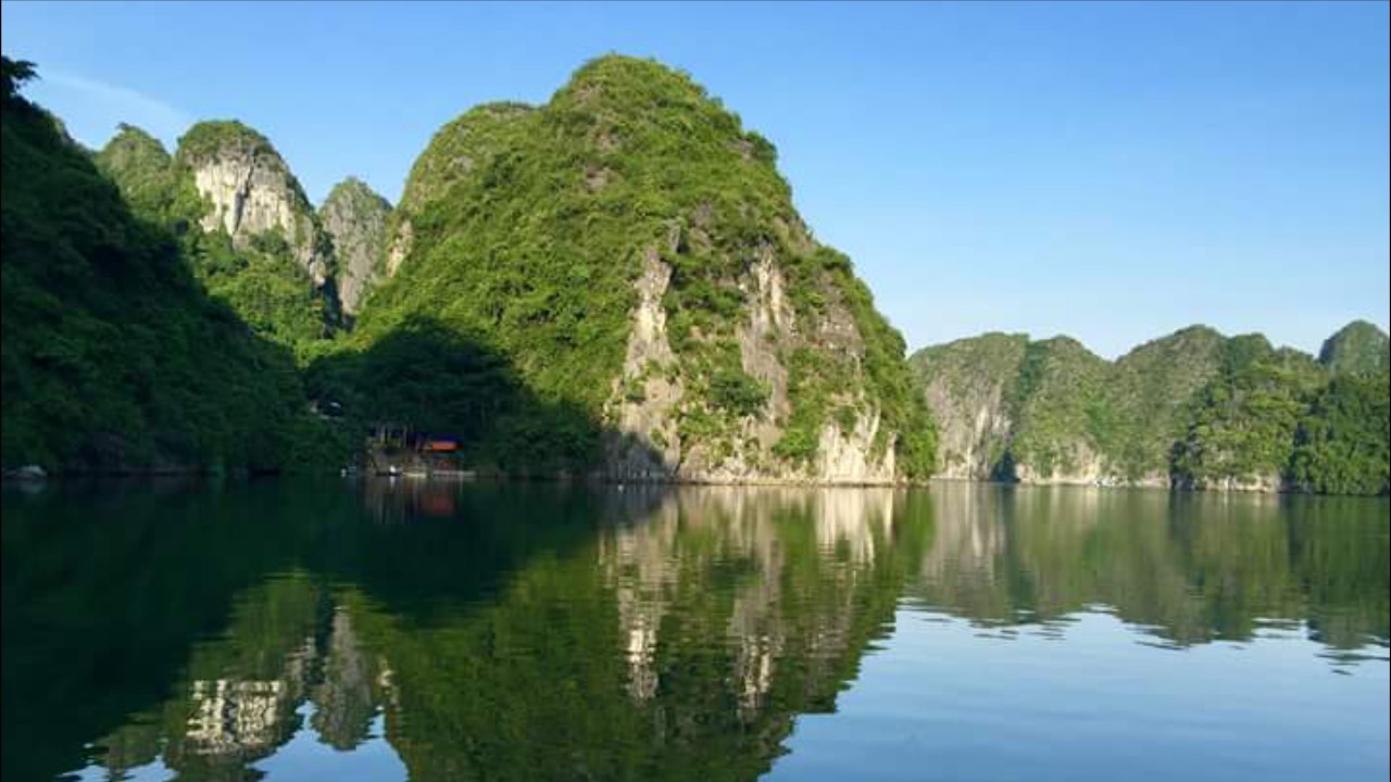 Halong bay scenery in real life