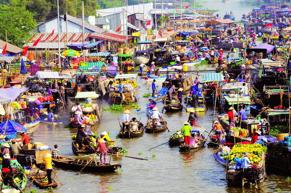 Mekong river - floating market