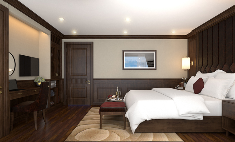 Hanoi luxury tour-Room in Mon Cherri cruise