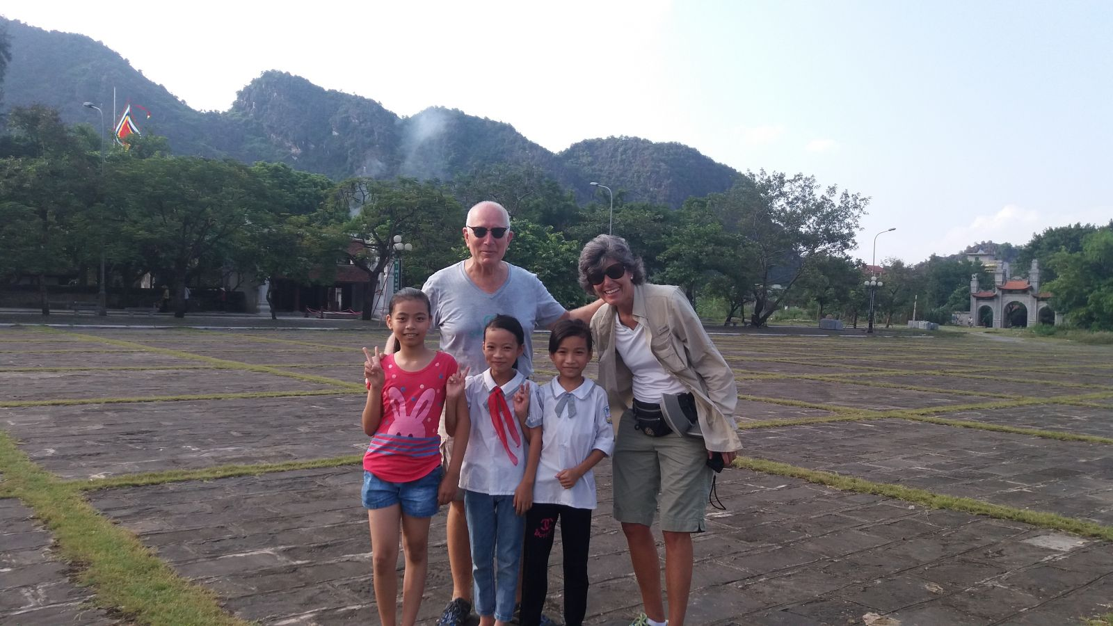 Photo with local children