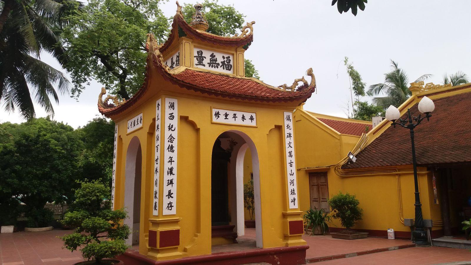 Tran Quoc Pagoda stelea
