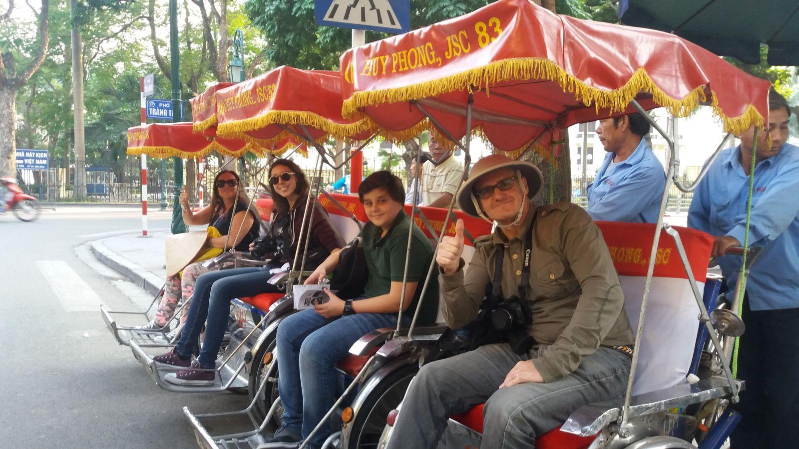 Vietnam Family Holiday Cyclo tour
