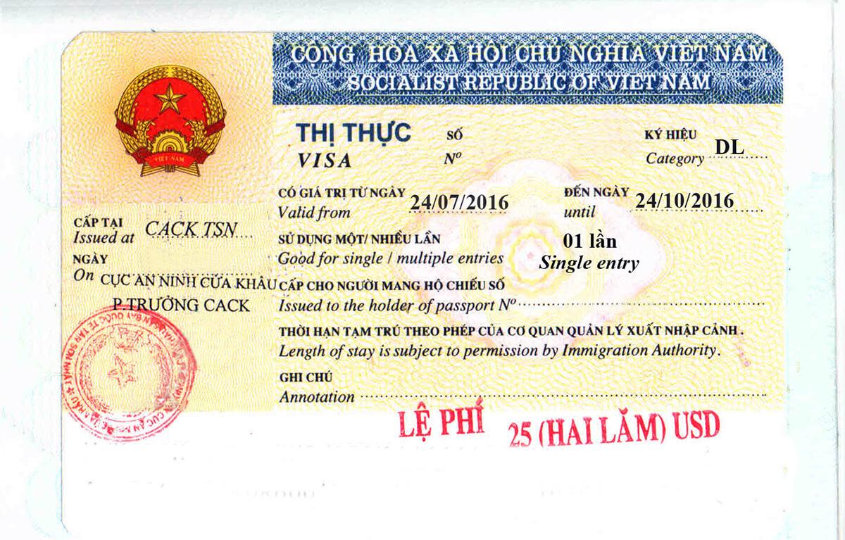 Vietnam Visa Document